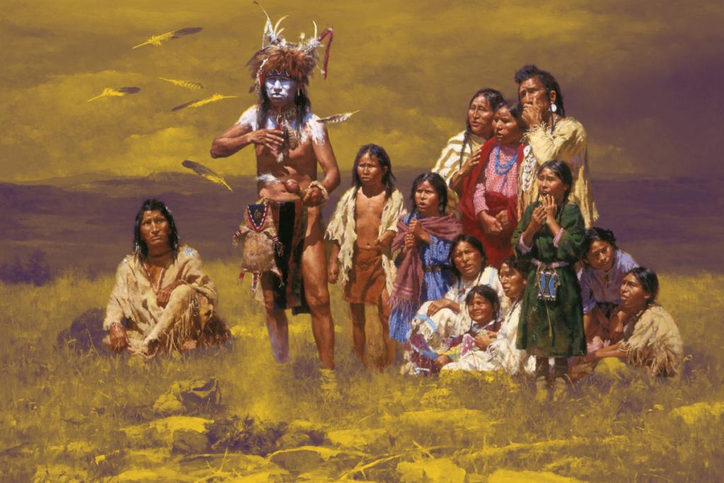 Открытие картофеля индейцами